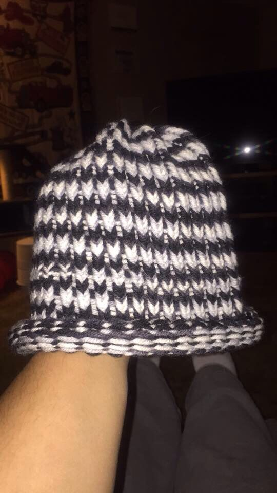 My very first knitting project