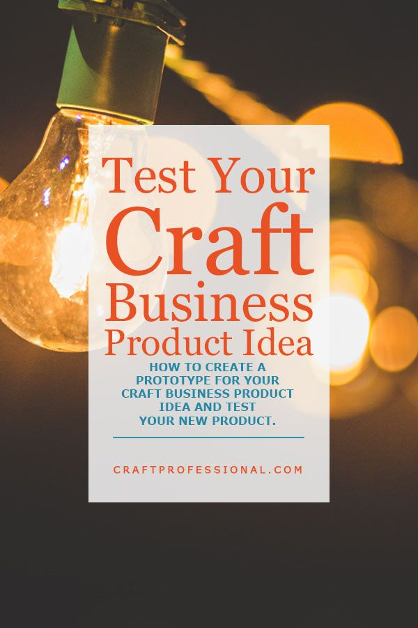 How to make sure your product is right for your customers - http://www.craftprofessional.com/craft-business-product.html