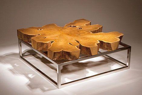 Chista furniture, Flower Tea Coffee Table.