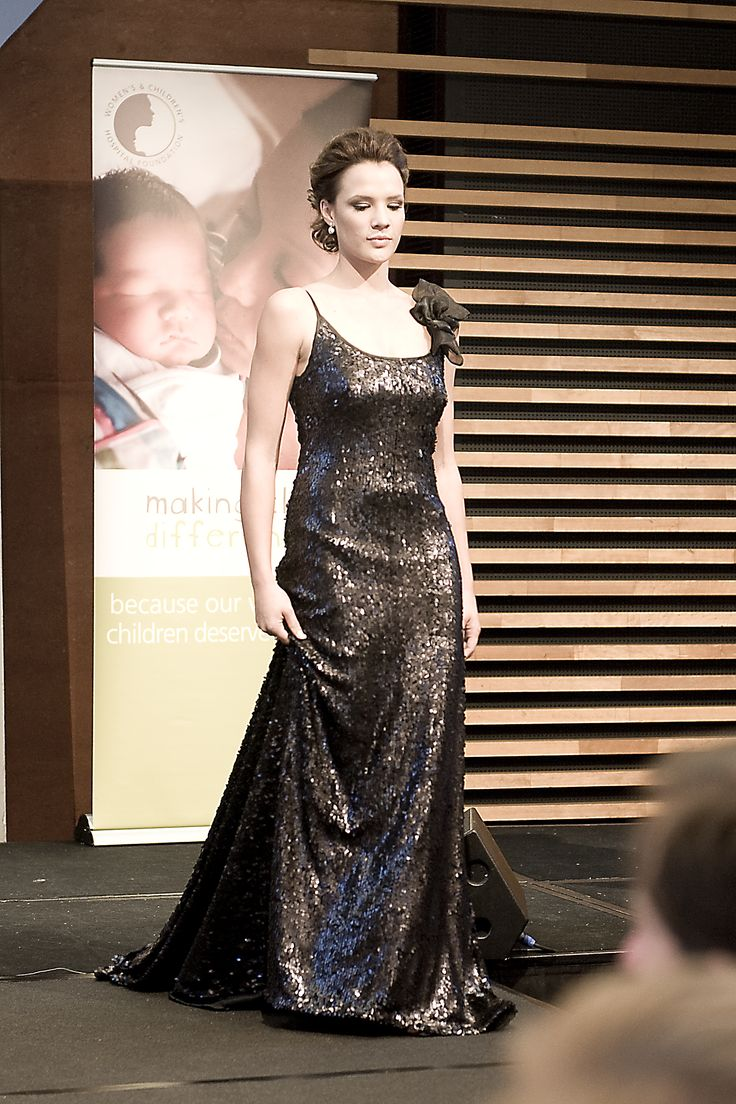A glamorous Caleche gown on the runway for a special event held in Adelaide.