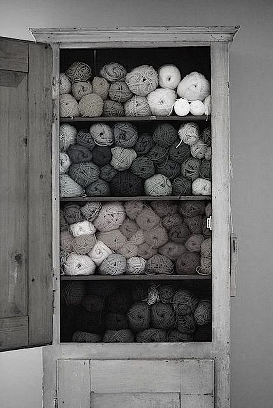 A closet full of yarns