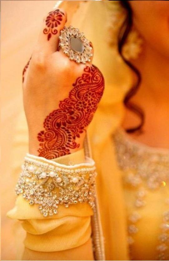 Mehndi signifies the essence of love in wedlock and is essentially applied on the hands and feet of the bride, to strengthen that bond of love. It is one of the most special pre-wedding rituals in India.
