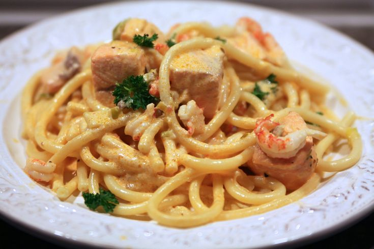 Lax pasta med kräftor
