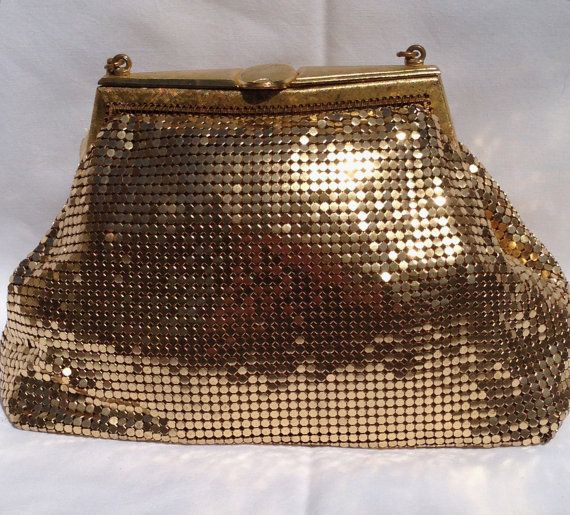 Vintage Oroton clutch/ Glomesh / Whiting & by Justwhatawomanneeds, $75.00