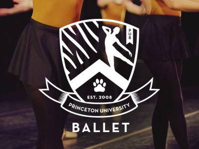 Princeton University Ballet Logo, alternate option || Jody Worthington. A modern, sporty crest.