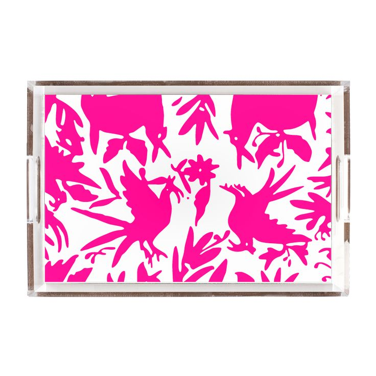 Pink Otomi Lucite Tray - Katie Kime - $47.99 - domino.com