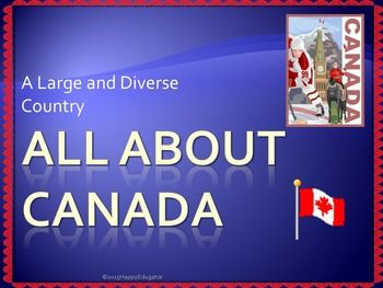 Canada - All About Canada PowerPoint Presentation. Great for Canada Day! Includes information on Canada's geography, environmental issues, trade, the Canadian Shield, Government, Provinces and Territories, and History, Lots of information to use to supplement your unit on Canada.
