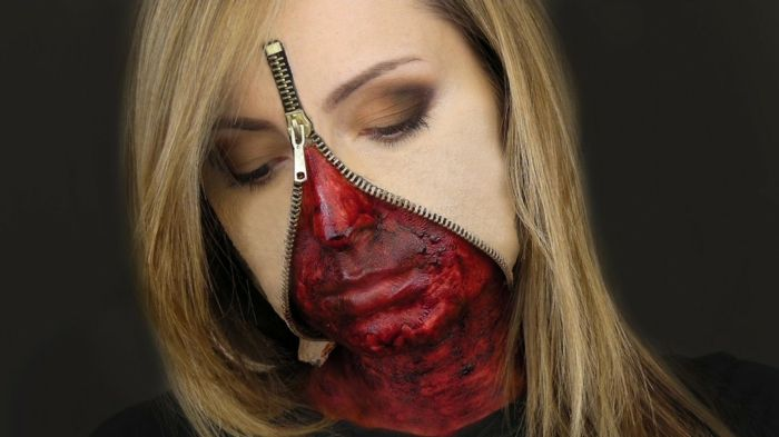 maquillage halloween zip