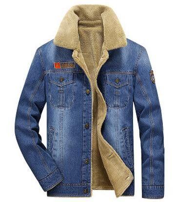 Men Jacket and Coats Denim Jacket Men's Jeans Jacket Thick Warm Outwear Cowboy