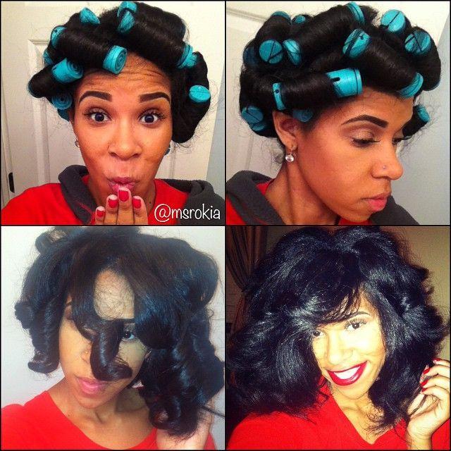 Terrific 1000 Images About Roller Set On Natural Hair On Pinterest Bantu Short Hairstyles Gunalazisus