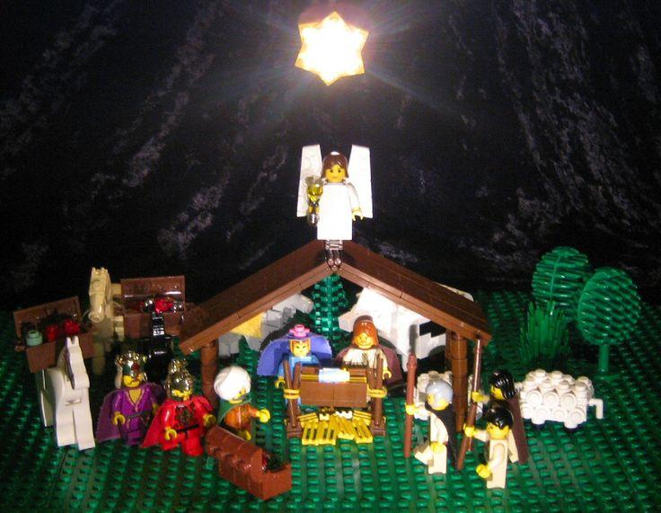 balenciaga covered giant city LEGO Nativity Scene