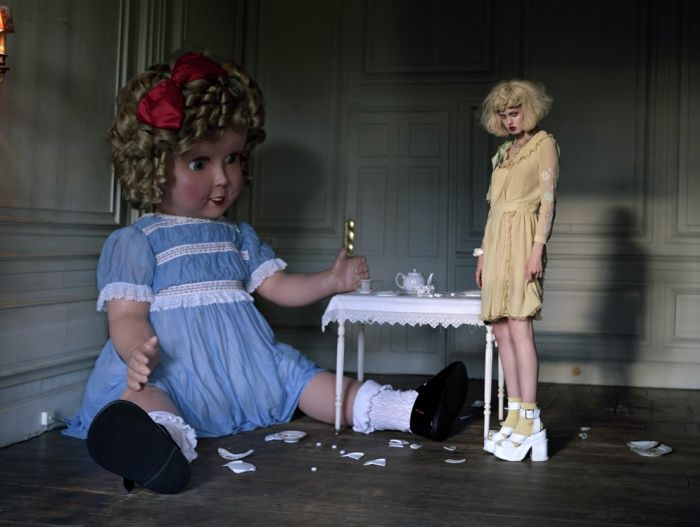 Lindsay Wixson & Giant Doll. 2011. Italian Vogue