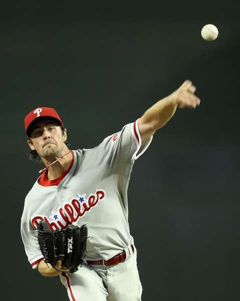 Phillies starting pitcher Cole Hamels