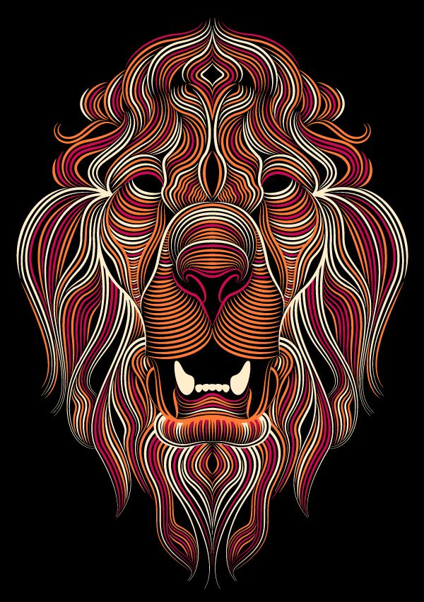 Lions par Patrick Seymour, via Behance