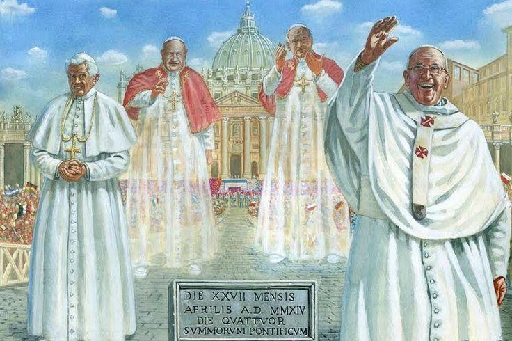 """27A: Día de """"los cuatro Papas"""" y de """"homenaje"""" al Concilio Vaticano II - Aleteia"""