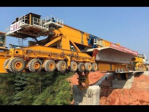 Самый большой мостоукладчик в мире — 91 метр. Техника для постройки мостов.