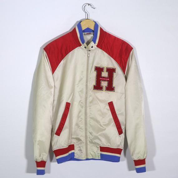 Rare Vintage 70s 80s 90s Honda Motorcycle Jacket Hrc Honda Etsy In 2020 Vintage 70s Motorcycle Jacket Windbreaker