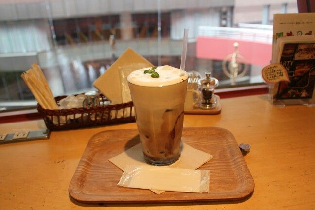 Cafe latte in cannoncity hakata