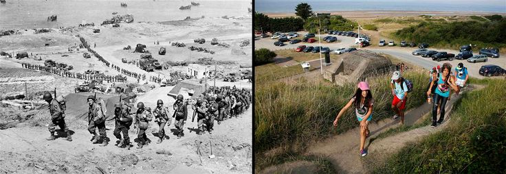 pictures of d day then and now