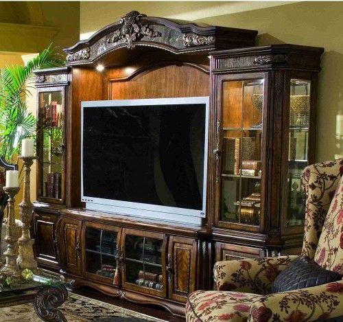 AICO Furniture   Oppulente Entertainment Unit W/Audio Cabinets (4 Pc)    67000ENT4
