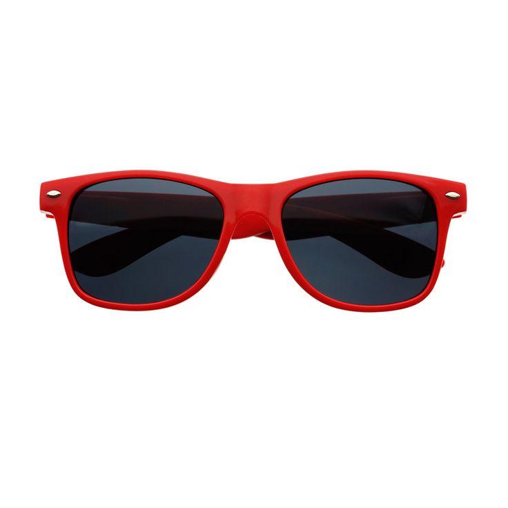 red wayfarer sunglasses s0zc  Retro Classy Wayfarer Style Sunglasses Red W321