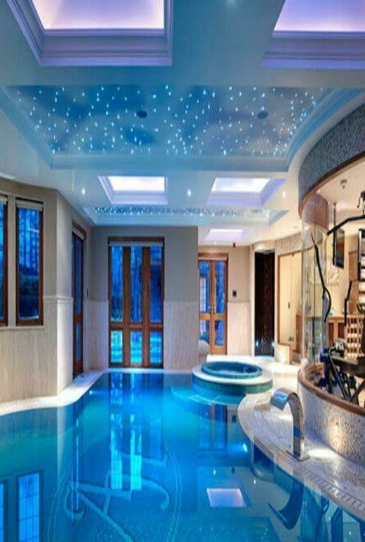Pin By Tierno Dulce On Dream Pools Indoor Pool Design Indoor Swimming Pool Design Big Houses With Pools