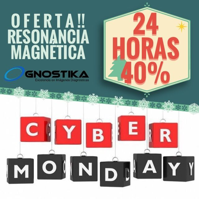 Cyber Monday 24 horas OFERTA!! Descuento 40% para Cualquier estudio de RESONANCIA MAGNÉTICA   Reserve su cita en el PBX 390-6321 - Clic aquí http://goo.gl/ 8PwAOc  Citas por Whatsapp 316 874-8952 #cybermonday #cyberlunes @Gnostika. #resonanciamagnetica