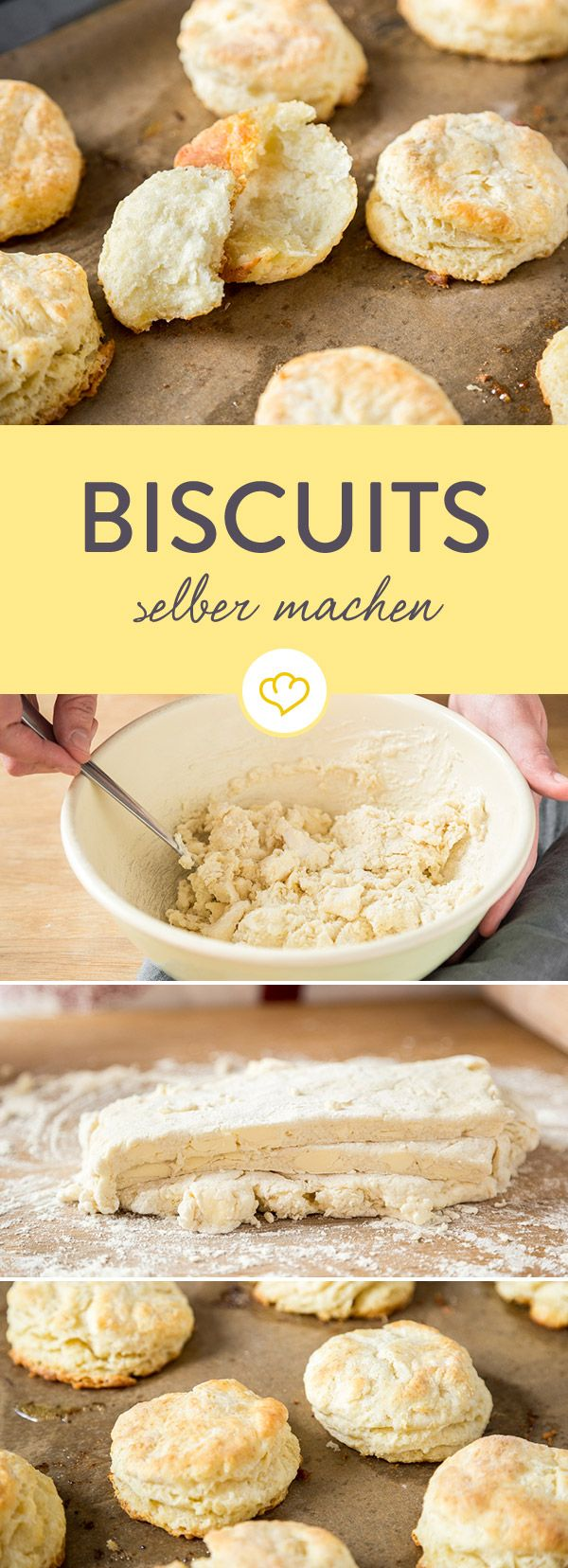 Biscuits sind weder Scones noch Blätterteigtörtchen. Biscuits sind amerikanische Gebäckstücke, die dank kalter Butter besonders blättrig und luftig werden.