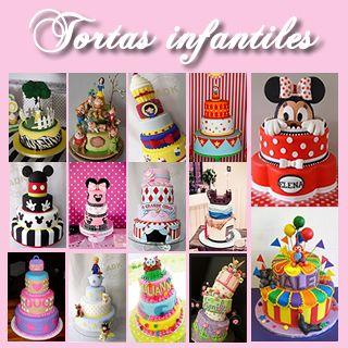 Tortas Infantiles: Collage de Ideas #TortasInfantiles #Cumpleaños #Ideas http://www.wonkis.com.ar/2013/11/tortas-infantiles-collage-de-ideas/