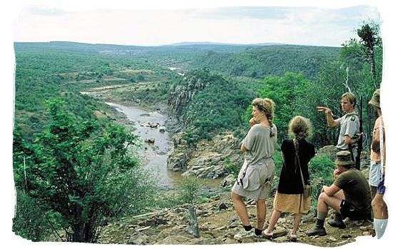 Bush hikers with their guide on the Olifants wilderness trail in the Kruger national Park.