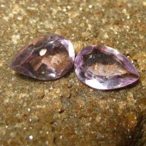 2 Pear Shape Amethyst 2.40 carat #BatuKecubung