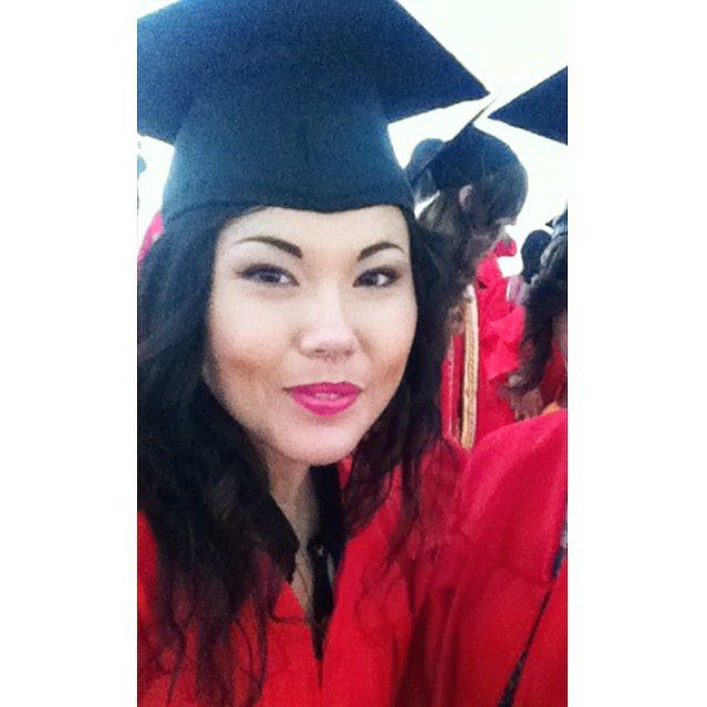 Grad school is miserable but then I think about how much of a little peach I looked like in a cap and gown I get motivated.  #BU#proudtoBU#vegan#boston#tbt#tampa#korean#tampabae by veganpolice
