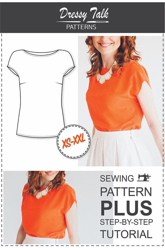 Beginner Blouse Pattern PDF Sewing Pattern by DressyTalkPatterns