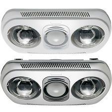 Heller 3 in 1 Ceiling Light/Heater Globe/Ducted Exhaust Fan Bathroom/Heat/Lamp