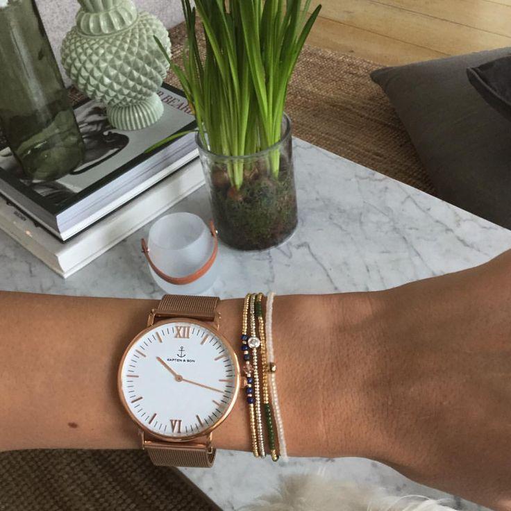"""Mathilde Gøhler på Instagram: """"Spring essentials ⌚️❤️ @kaptenandson"""""""