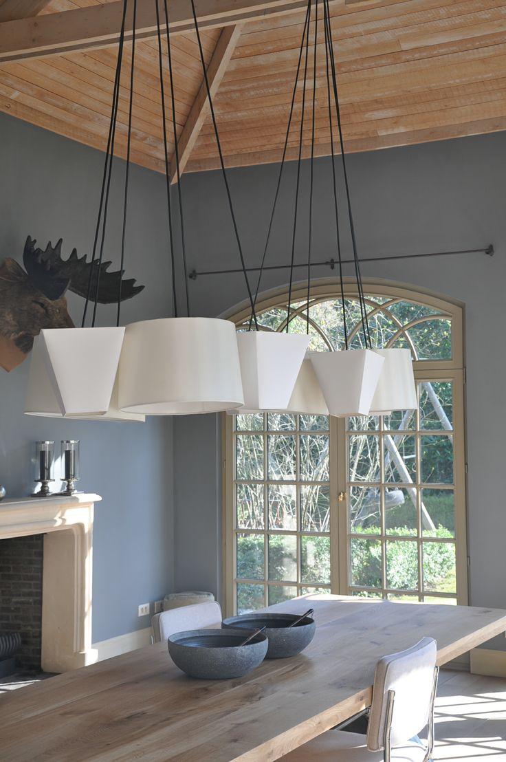 25 beste idee n over hangende lampen op pinterest for Lampen eettafel design