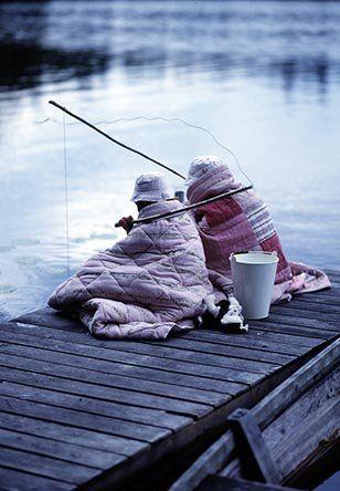 Fishing with my mom! On my dock! Yep, it's gonna happen!
