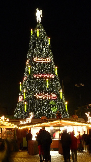 Largest Christmas Tree in Dortmund Christmas Market, Germany