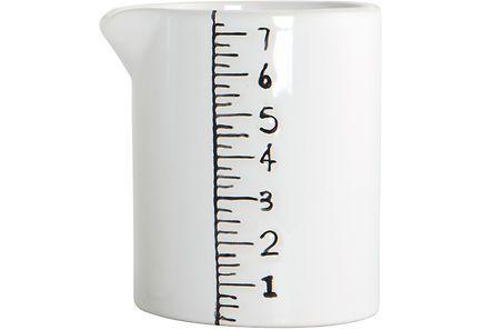 Keraaminen mittakannu. Astianpesukoneen- ja mikroaaltouunin kestävä.
