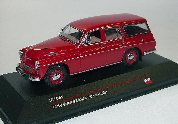 Ist Models, Warszawa 203 Kombi, 1960, dunkelrot, DDR, USSR, Polen, 1/43