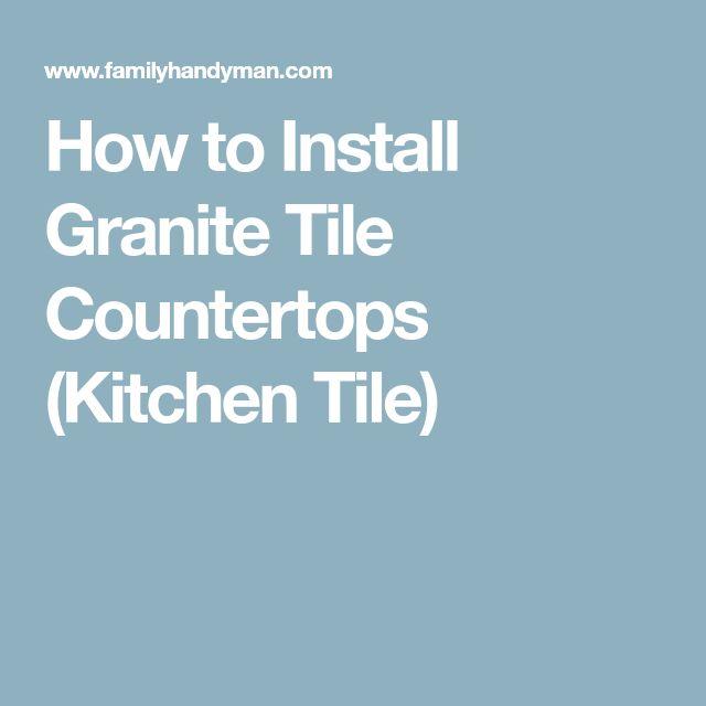 Best 25+ Tile countertops ideas on Pinterest   Tile ...