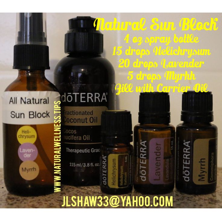 Carrier Oils With Natural Spf
