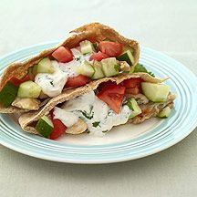 Greek Chicken PitasWeight Watchers, Recipe, Weights Watchers Menu, Watchers Greek, Food, Healthy, Eating, Greek Chicken Pita, Pita Sandwiches