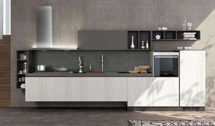 Mobili sospesi in cucina - Cucina lineare sospesa