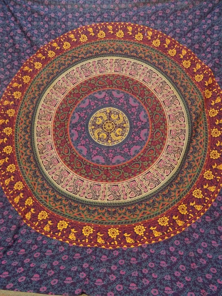 Mandala  Bedspreads Indian Boho Wall hanging Hippie Dorm Tapestry #Handmade