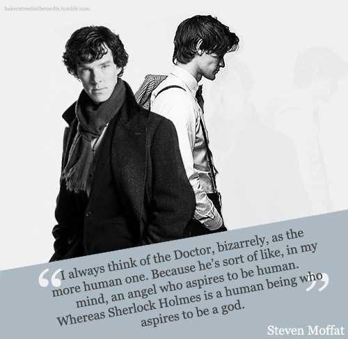 moffat on sherlock and the doctor