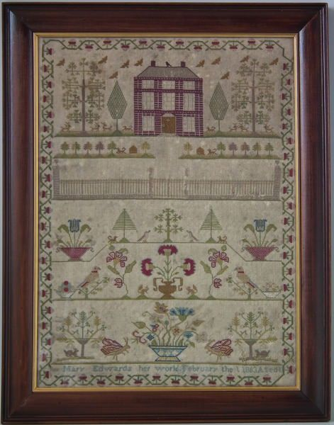 1803 House Sampler by Mary Edwards