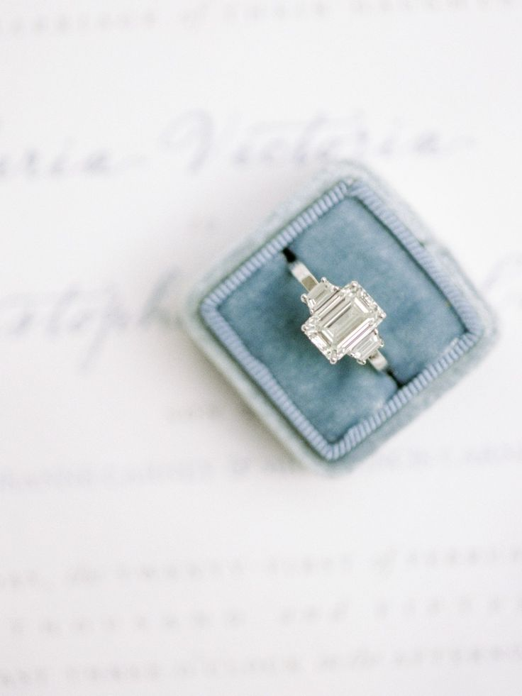Emerald-cut beauty | Photography: Coco Tran - www.cocotran.com  Read More: http://www.stylemepretty.com/2015/05/27/romantic-meadowood-napa-wedding/