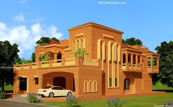 Front Elevation Tiles In Lahore : D front elevation lahore kanal house design