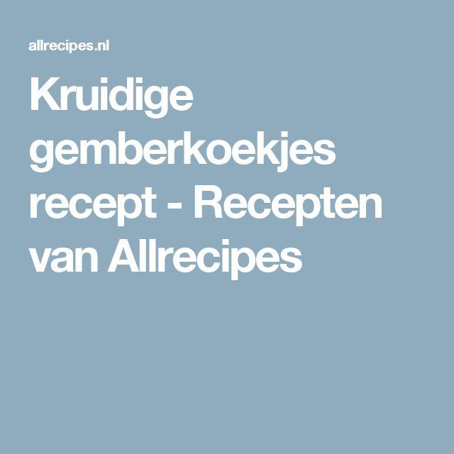 Kruidige gemberkoekjes recept - Recepten van Allrecipes
